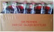 Original Dublin Dr Pepper Case 24 Glass Bottles Sealed