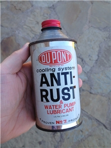 Vintage Du Pont Anti-Rust Water Pump Lubricant Metal Tin Can W/Lid