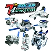 7 in 1 Solar Rechargeable Space Fleet Robot Kits