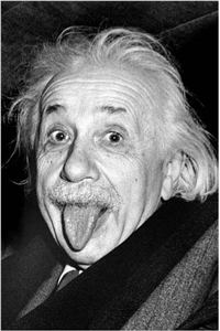 Einstein - Tongue Poster