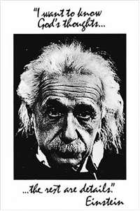 Einstein - God's Thoughts Poster