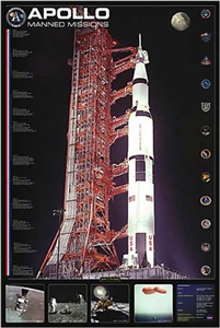 Apollo Manned Missions Poster