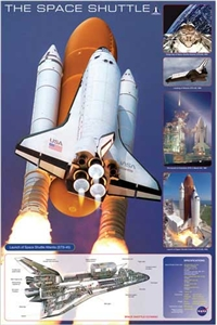 The Space Shuttle Atlantis Poster