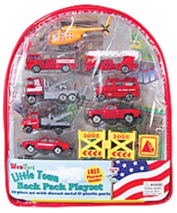 Fire Rescue 10 Pack Vehicles Backpack