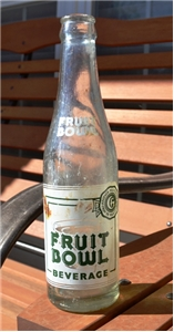 Fruit Bowl Collectible ACL Soda Bottle Houston TX