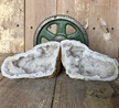"Cut Moroccan Geode Pair Halves 5.5"" Large White Clear Crystals"