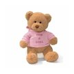 It's a Girl Plush Teddy Bear by Gund, Stuffed bear for baby, Baby bear pink, Girls pink bear