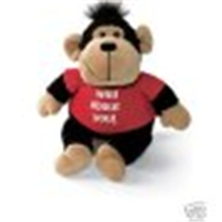 gund animals, love struck monkey, love t-shirt sayings, monkey toy, plush monkey toys, gund monkey