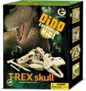 GeoWorld  Dino Excavation Kit - T-Rex Skull