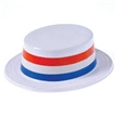 Plastic Patriotic Skimmer Hat - Pack of 12