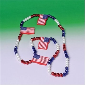 US Flag Necklace - Pack of 12