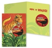 T-Rex Giant Sticker Birthday Card
