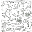 Washable Dinosaur Coloring Play Mat