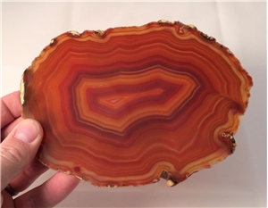 Large Agate Slab Polished- Burnt Orange