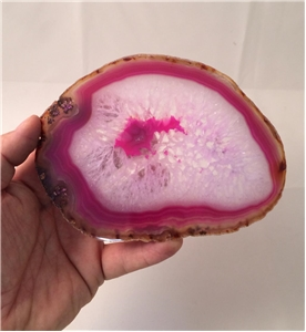 Large Agate Slab Polished - Pink