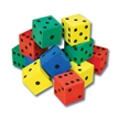 Color Foam Dot Dice (Set of 12)