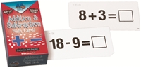Horizontal Addition and Subtraction Flash Cards Set
