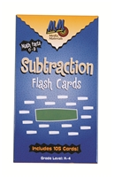 Vertical Subtraction Flash Cards