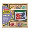 Melissa and Doug Dinosaurs Wooden Stamp Set
