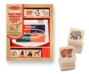 Free!! - Melissa and Doug Baby Zoo Animals Stamp Set