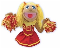 puppets, cheerleader puppet, melissa and doug puppets, kids puppets, children's puppets