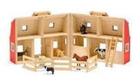 Fold & Go Mini Barn, Wildlife toys for kids, animal toys for kids, learn about animals