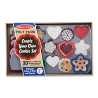 Cookie Decorating Set - Felt Food, felt food, felt cookie toy, felt food toy, kid play felt food, fe