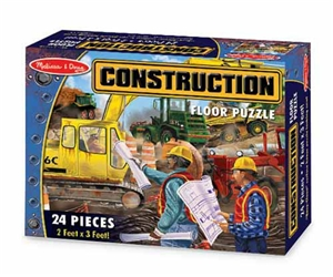 Melissa & Doug Construction Floor Puzzle
