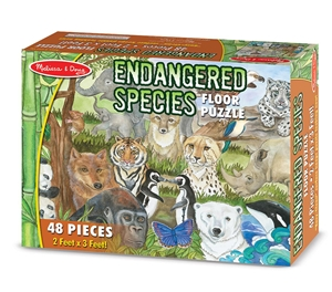 Melissa and Doug Endangered Species Floor Puzzle 48 Pieces