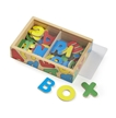 Melissa and Doug Wooden Letter Alphabet Magnets