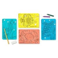 Melissa and Doug Textured Stencils - Sea Life