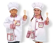 Chef Role Play Costume Set by Melissa and doug, lil chef set, girls chef set, kids chef set