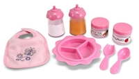 baby doll accessories, melissa and doug baby doll feeding set, baby doll feeding set, baby doll eati