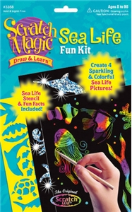Scratch Magic® Draw & Learn® Sea Life