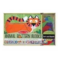 Melissa and Doug Animal Pattern Blocks Set