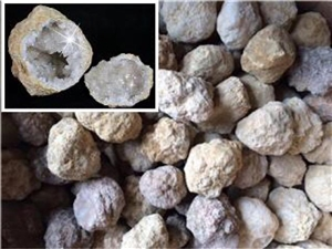 Bulk Pack - 25 Break Open Whole Moroccan Geodes - Crystal Centers 2""