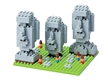 Nano Block Moai Statues on Easter Island