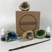 "Paint Your Own Geodes Kit | 2"" Blue and Green"