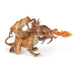 Papo Gold Two Headed Dragon Toy Model, two headed dragon, papo two headed dragon, gold two headed dr