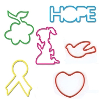 Memory Shape Rubber Bands Hope Assortment | Kids popular rubber bands | Angel | Dove | Prayer