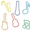 Memory Shape Rubber Bands Music Assortment, Popular kids shapped rubber bands, Guitar, Saxaphone