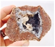 Large Brown Skin Pinky Cut Geode