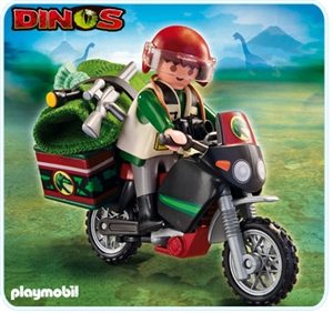 Explorer with Motorcycle - Dinos