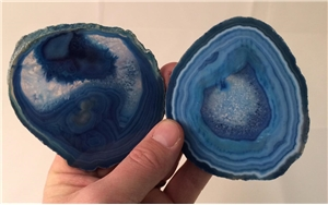 Medium Agate Slab Polished- Blue