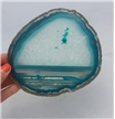 Large Agate Slab Polished - Teal