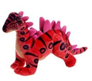 "24"" Red Stegosaurus Stuffed Dinosaur"