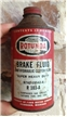 Vintage Rotunda Brake Fluid Cone Top Tin Metal Can Ford Motor Co Mi