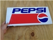 "Vintage Metal Pepsi Sign 22"" X 10"" cooler / vending machine"