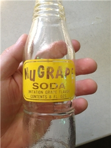 Vintage 1960'S ACL Nugrape Soda Bottle, Atlanta Georgia, 8 Oz