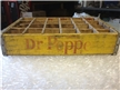 Vintage Dublin Dr Pepper Wood Crate Carrier Yellow 24 Slot